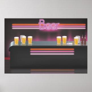 1980s Retro Bar Poster