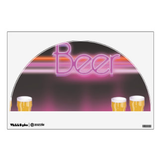 1980s Retro Bar Wall Decal