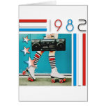 1980's Retro Boom Box and Roller Skates Design Cards