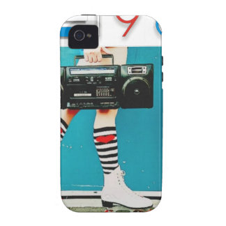 1980's Retro Boom Box and Roller Skates Design Case-Mate iPhone 4 Covers