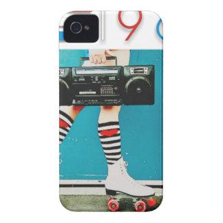1980's Retro Boom Box and Roller Skates Design iPhone 4 Cases