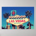 1980s Retro Photo Effect Fabulous Las Vegas Nevada Poster
