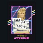 """1980's Retro Style Photo Party Announcement<br><div class=""""desc"""">Vintage Retro Cool 1980's themed photo template invitation. Customize this awesome invitation with your own totally excellent photo. Do you have the perfect photograph from those wild and crazy times in the 80's? Did you have really big hair, a perm, or a mullet? It's easy to upload. Your friends will...</div>"""