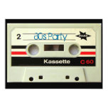1980s Vintage geeky  Retro cassette Card