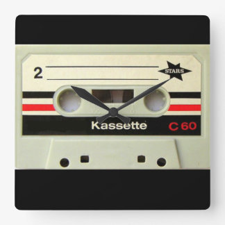 1980s Vintage geeky Retro cassette Wall Clocks