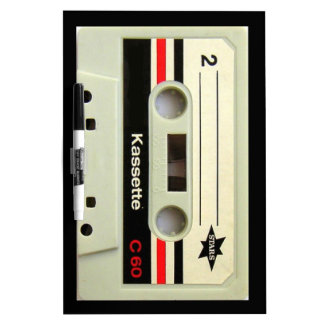 1980s Vintage geeky Retro cassette Dry Erase Whiteboards
