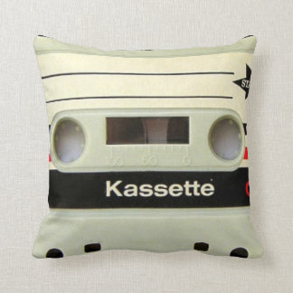 1980s Vintage geeky Retro cassette Throw Pillows