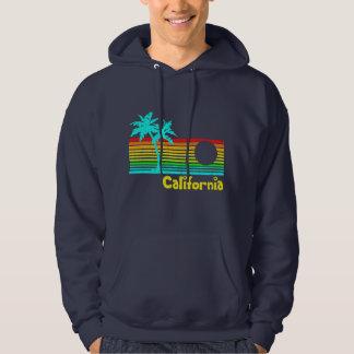 1980s Vintage Retro California Hooded Pullover