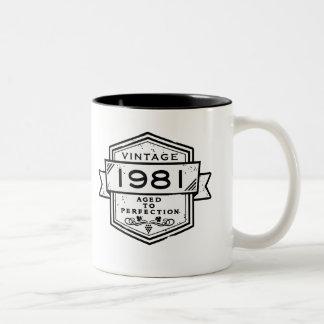 1981 Aged To Perfection Two-Tone Coffee Mug
