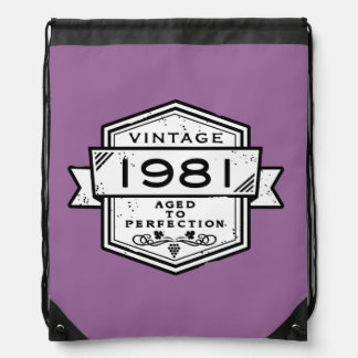 1981 Aged To Perfection Drawstring Backpack