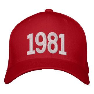 1981 años gorro bordado