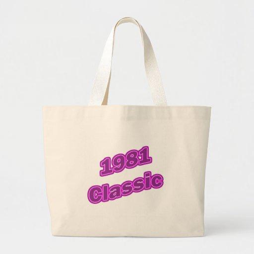 1981 Classic Purple Jumbo Tote Bag