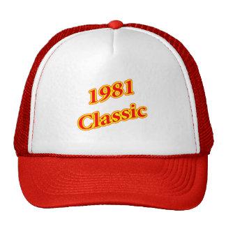 1981 Classic Red Trucker Hat