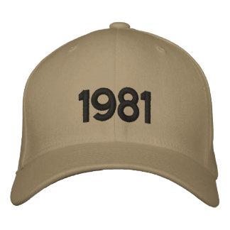 1981 = gorra radical gorras de beisbol bordadas