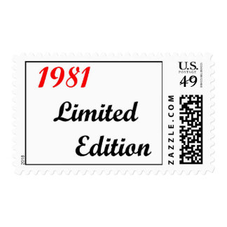 1981 Limited Edition Stamp