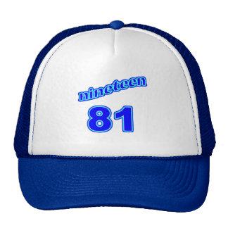 1981 Nineteen 81 Trucker Hat