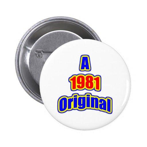 1981 Original Bl Red Pinback Button