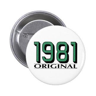 1981 Original Pinback Button