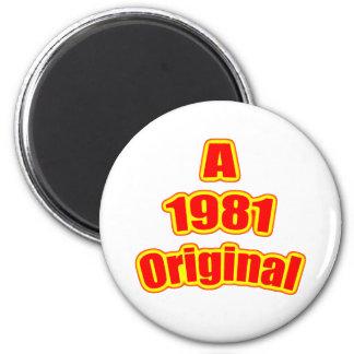 1981 Original Red 2 Inch Round Magnet