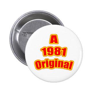 1981 Original Red Button