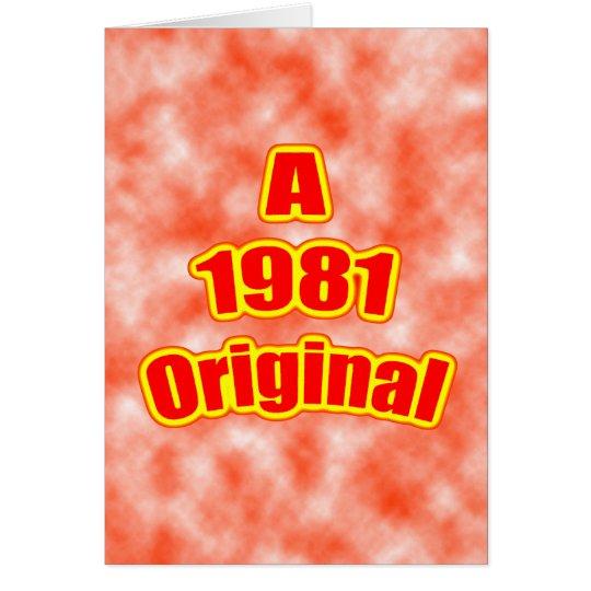 1981 Original Red Card