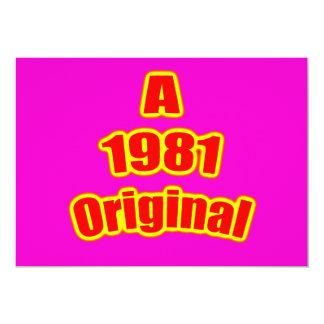 1981 Original Red Mag Card