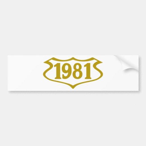 1981 shield.png pegatina para auto