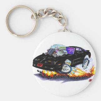 1982-92 Trans Am Black Car Basic Round Button Keychain