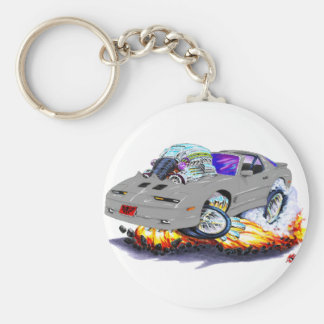 1982-92 Trans Am Grey Car Basic Round Button Keychain