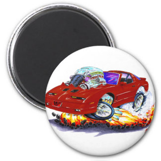 1982-92 Trans Am Maroon Car 2 Inch Round Magnet