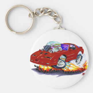 1982-92 Trans Am Maroon Car Basic Round Button Keychain