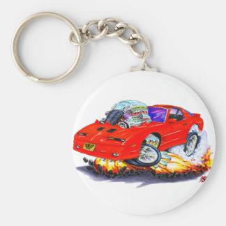 1982-92 Trans Am Red Car Basic Round Button Keychain