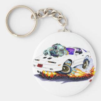 1982-92 Trans Am White Turbo GTA Keychain