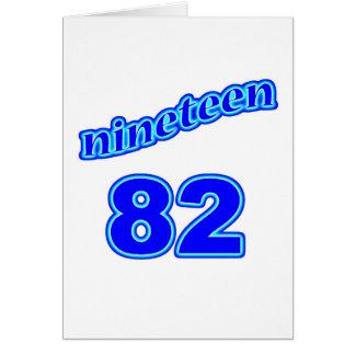 1982 Nineteen 82 Card
