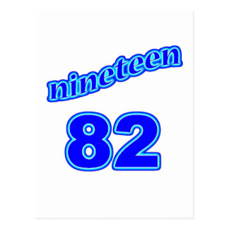 1982 Nineteen 82 Postcard