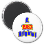 1982 Original Blue Red Magnets