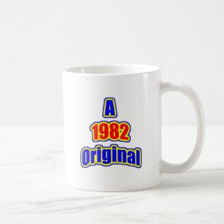 1982 Original Blue Red Coffee Mugs