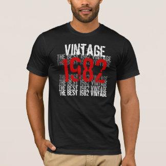 1982 Vintage - 30th Birthday Red Black White T-Shirt