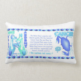 1982 Zodiac Water Dog born Cancer Pillow lumbar