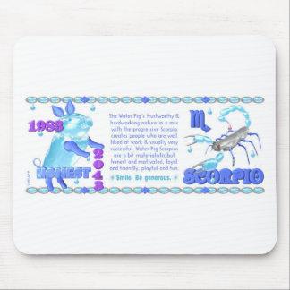 1983 2043 Chinese zodiac water pig born Scorpio Mouse Pad