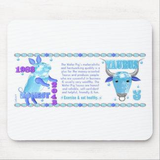 1983 2043 Chinese zodiac water pig born Taurus Mouse Pad