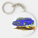1983-88 Cutlass Blue Car Basic Round Button Keychain