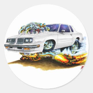 1983-88 Cutlass White Car Classic Round Sticker