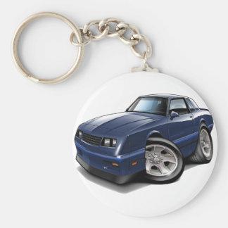 1983-88 Monte Carlo Blue Car Keychain