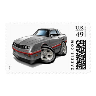 1983-88 Monte Carlo Grey-Red Car Postage Stamp