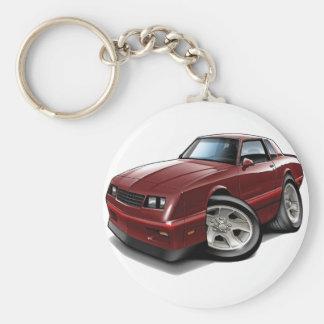 1983-88 Monte Carlo Maroon Car Keychain