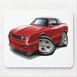 1983-88 Monte Carlo Red Car Mousepads