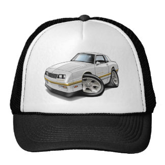 1983-88 Monte Carlo White-Gold Car Trucker Hat