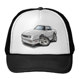 1983-88 Monte Carlo White-Grey Car Trucker Hat