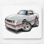 1983-88 Monte Carlo White-Red Car Mousepads